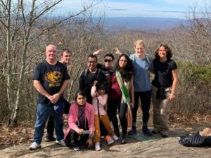 Lab hiking to Springer Mountain (Fall 2019)